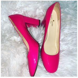 👠Kate Spade 🖤New York Patent  Hot Pink Heels